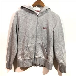Levi's Gray Zip up hoodie large Graphic Small